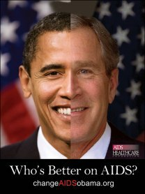 Bush? Obama? who' s better on AIDS? (c) aidshealth.org
