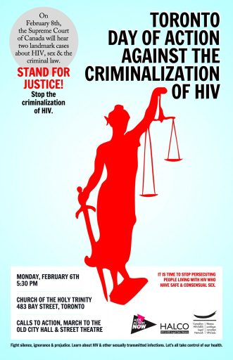 Toronto Day of Action against the criminalization of HIV