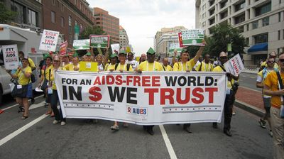 For an Aids-free world: In $ we trust!