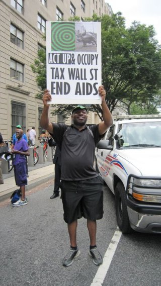 ACT UP & Occupy: Tax Wall Street - End Aids
